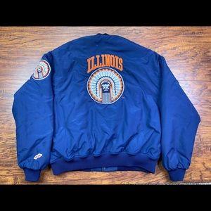 Vintage fighting Illini jacket
